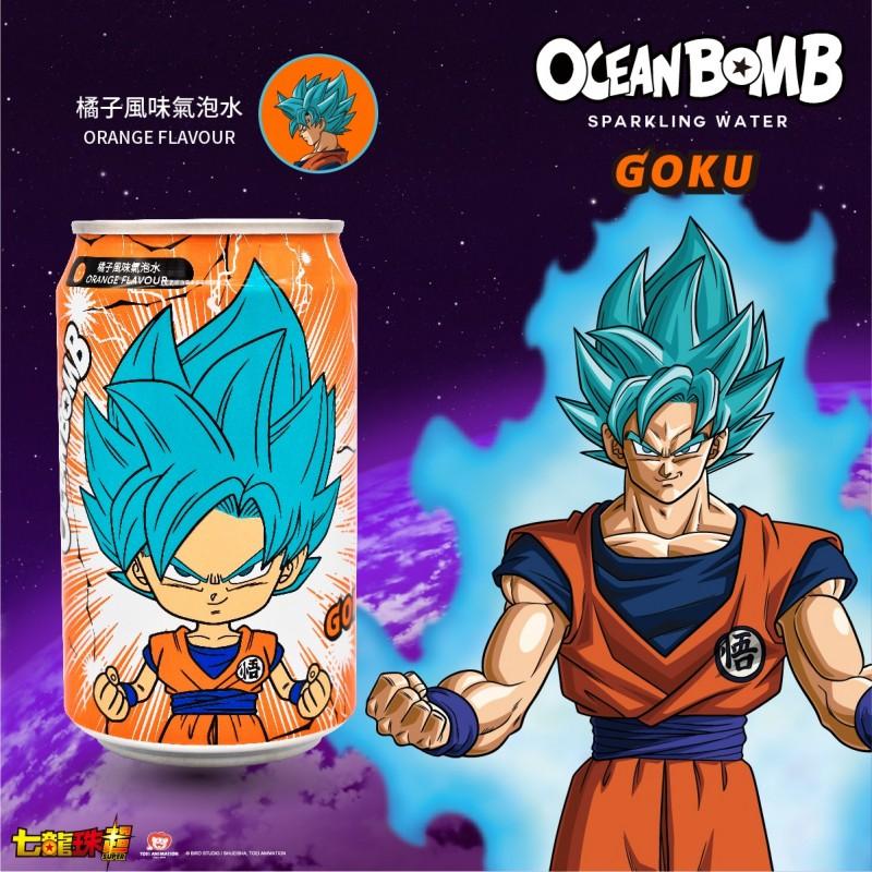Ocean Bomb - 七龍珠 橙風味氣泡水 330ml x 4罐