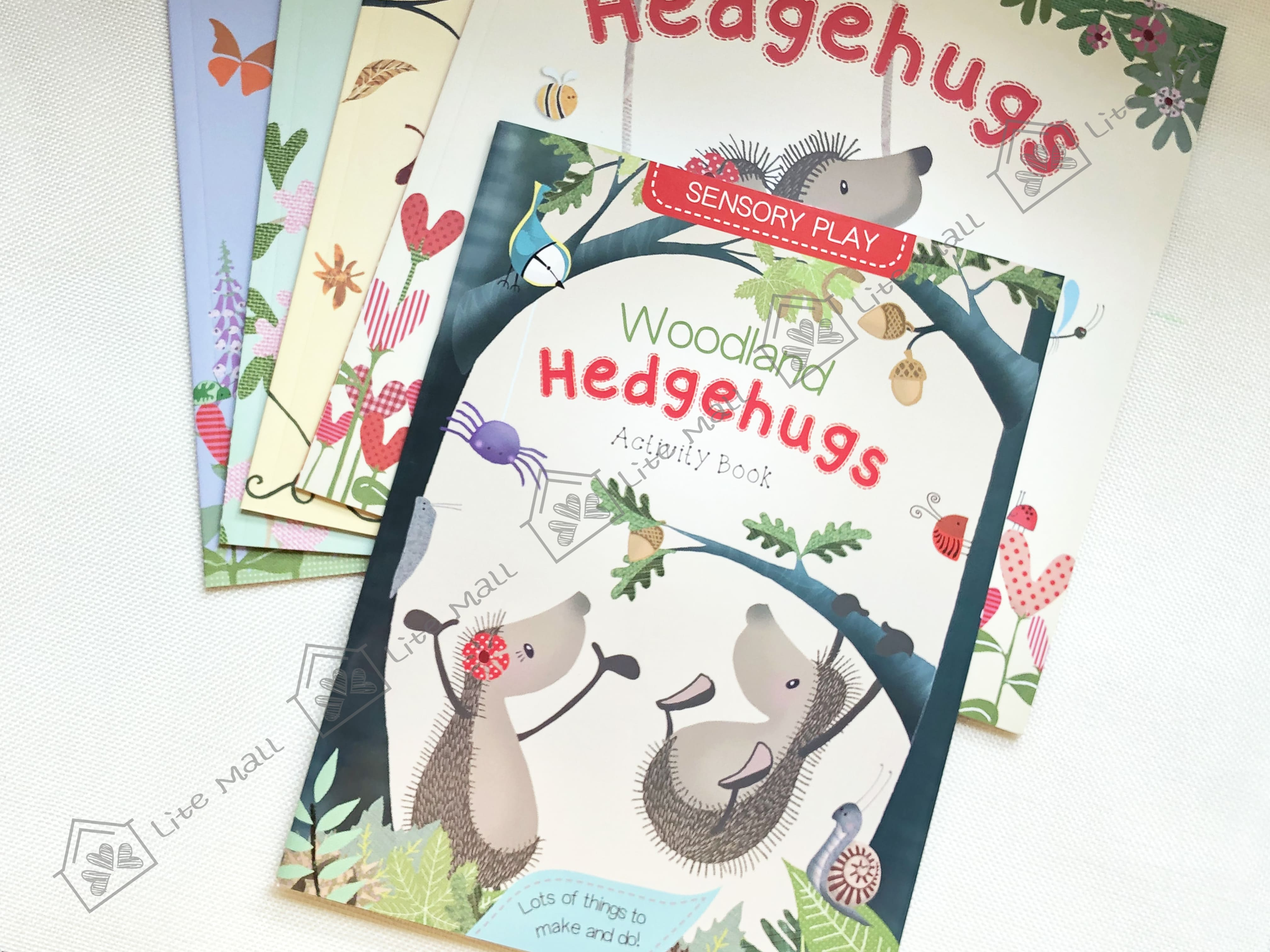 《Hedgehugs》刺猬的抱抱 英文書 1套5本