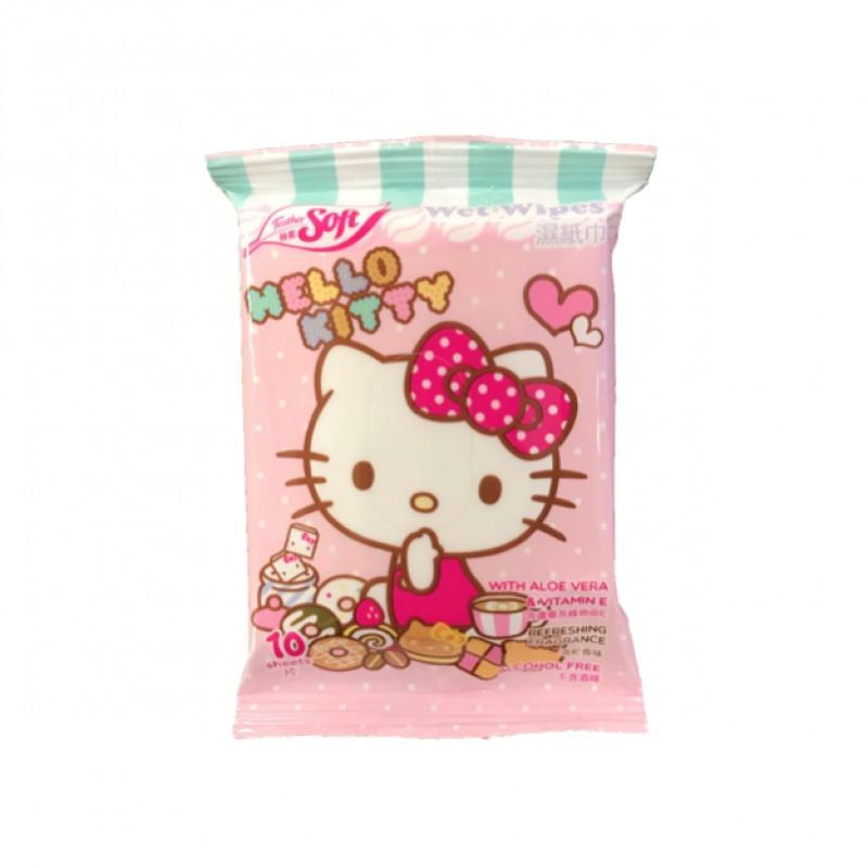 特柔清新香味濕紙巾KITTY 10片裝