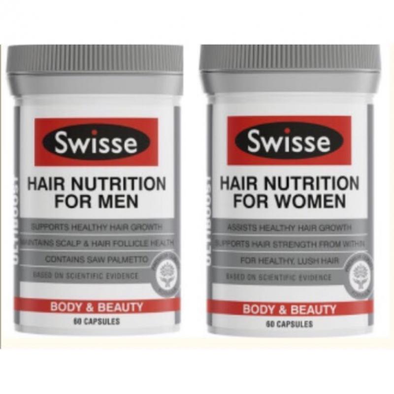 Swisse 男士/女士養發營養膠囊 60粒